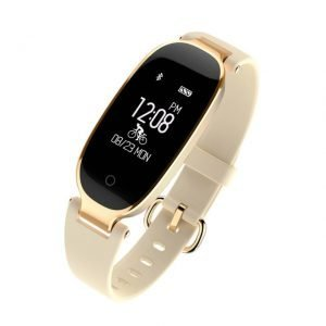 women fashion smart watch gold colour