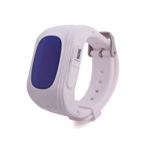 child GPS tracker watch white