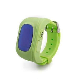 child GPS tracker watch green